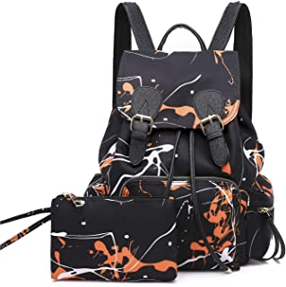Women Trend Graffiti Backpack Nylon Waterproof Bag Fashion Casual Bag Outdoor Travel Shoulder Bag College Tote School Bags