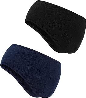 2 Pieces Ear Warmer Headbands Fleece Winter Headbands for Adult Kids Winter Using