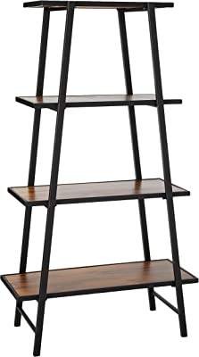 Christopher Knight Home Louis Indoor Mid Century Acacia Wood Bookshelf, Teak, Black