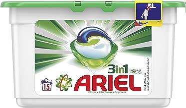 مسحوق أريال 3 في 1، كبسولات سائلة، رائحة أصلية، 15 خصلة.