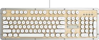 Azio Retro Classic Typewriter Style Keyboard - (Maple) Backl