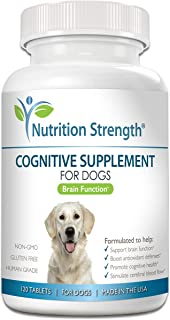 Nutrition Strength Cognitive Support for Dogs, Promotes Dog Brain Health, Mental Support for Old Dogs, Supplement for Dogs...