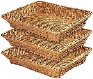 wicker bread display baskets