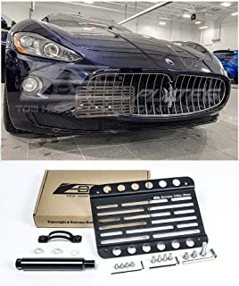 Extreme Online Store Replacement for 2008-Present Maserati Gran-Turismo | EOS Plate Version 1 Front Bumper Tow Hook License Relocator Mount Bracket Tow-323 (Mid Size)