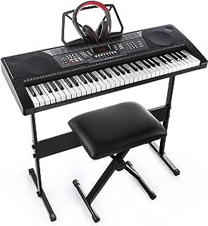 Joy 61-Key Standard Keyboard Kit Including USB Music Player Function, Bundle with Headphone, Stand, Stool, Power Supply (JK-66MKit)