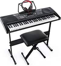 Joy 61-Key Standard Keyboard Kit Including USB Music Player Function, Bundle with Headphone, Stand, Stool, Power Supply (JK-66MKit)