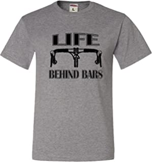 Adult Life Behind Bars Funny Bike Bicycle Funny T-Shirt
