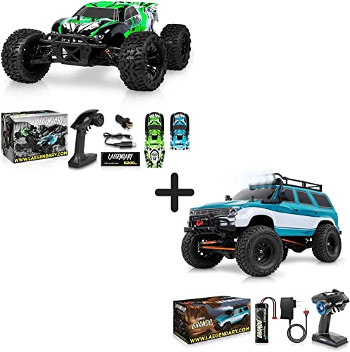 high quality 1:10 Scale Brushless RC Cars 65 km/h Speed and 1:10 Scale Large RC popular Rock Crawler - Kids and Adults Remote Control Car 4x4 Off Road Monster lowest Truck Electric - Waterproof Toys online
