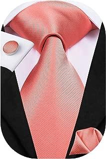 Mens Silk Necktie and Hanky Cufflinks Set