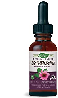 Nature's Way Premium Formula Echinacea-Goldenseal, 250 mg per serving, 99.9% Alcohol-Free, 1.01 Oz.