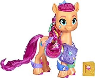 My Little Pony: A New Generation.Rainbow Reveal Sunny.Starscout. 6 Inch Orange Pony Toy with Surprise Rainbow Braid and 17...
