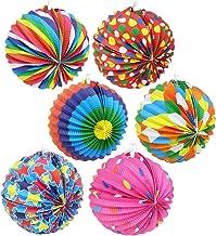 com-four® lantaarn met kleurrijke motieven - papieren lantaarn voor zachte Martin en Halloween - Martinlantaarn voor kinde...