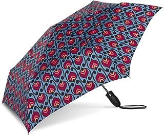 Windjammer Vented Auto Open/Auto Close Print Compact Wind Umbrella: Josephine