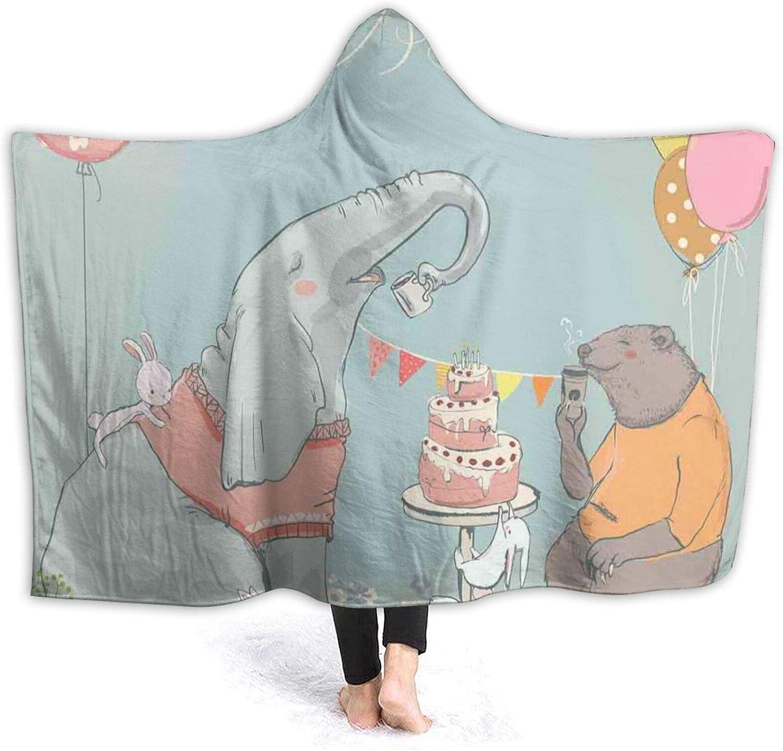 Hooded Blanket Anti-Pilling Flannel Las Vegas Mall OFFicial shop Festive Celebration Surprise