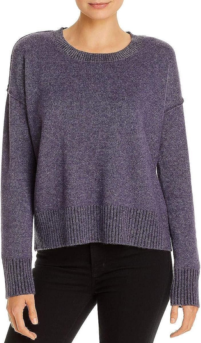 Eileen Fisher Womens Cashmere Blend Round Neck Pullover Sweater