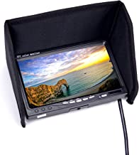 RC LCD FPV Monitor 7 Inch 1024x600 Display Screen NO Blue HD IPS Monitor with Hood Sun Shield and XT60 to Deans Connector
