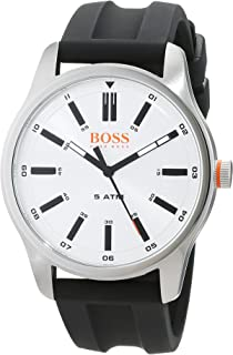 Hugo Boss Men's Mother of Pearl Dial Rubber Band Watch - 1550043