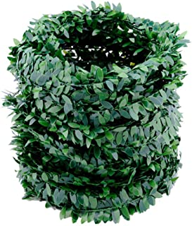 32.8 Yards Artificial Ivy Garland Foliage Green Leaves Fake Vine Headband Artificial Leaf Vine Fake Hanging Plants for Wedding Party Ceremony DIY Headbands