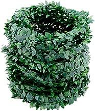 32.8 Yards Artificial Ivy Garland Foliage Green Leaves Fake Vine Headband Artificial Leaf Vine Fake Hanging Plants for Wedding Party Ceremony DIY Headbands