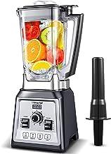 AMZCHEF Blender 2000W, Blender Smoothie, Mixeur Multifonction, Mixeur Puissant avec 8 Vitesses Réglables/4 Programmes Préd...