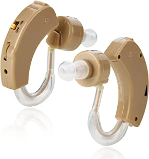 MEDca BTE Behind the Ear Sound Amplifier Super Mini Size Sound Enhancer For Better Hearing (Pair)