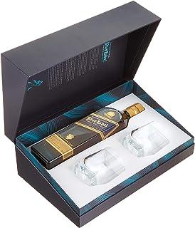Johnnie Walker Blue Label, Geschenkpackung mit 2 Gläsern Blended Whisky 1 x 0.7 l