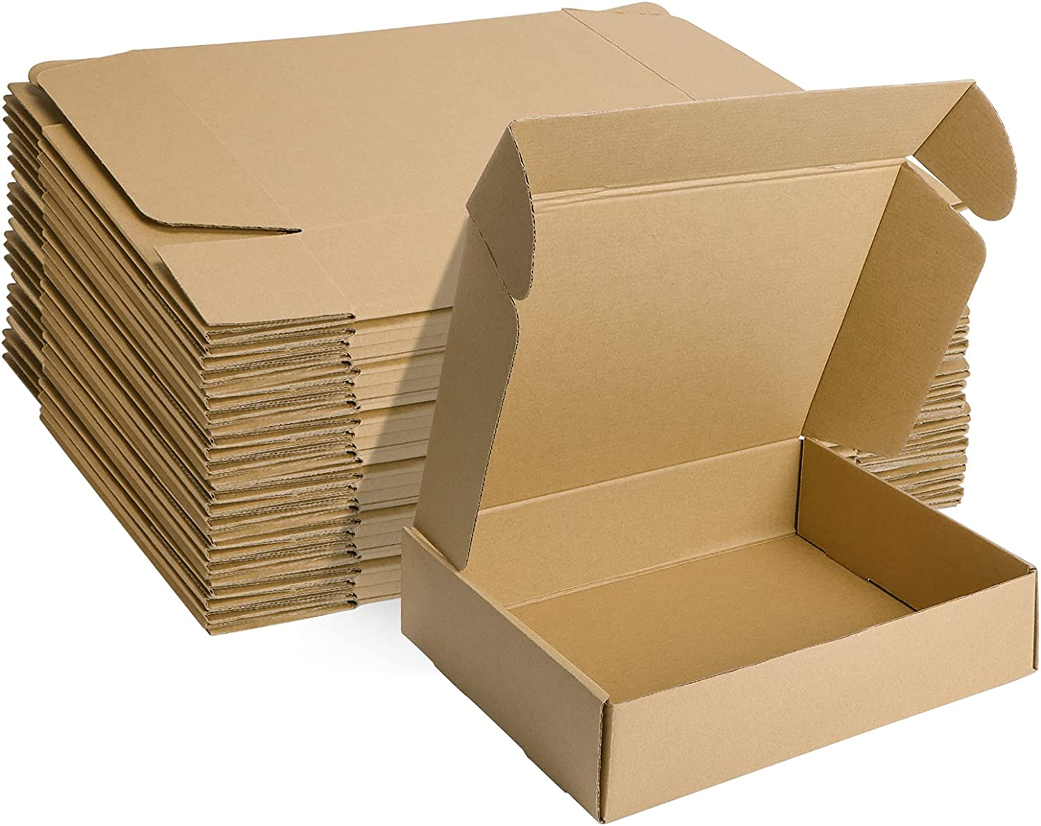 MEBRUDY 12x9x3 Inches Shipping Boxes Pack of 20, Small Corrugated Cardboard Box for Mailing Packing Literature Mailer