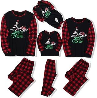 Pijamas de Navidad a juego para la familia, con diseño para papá, mamá y niños - Pijamas con camiseta y pantalón, o mameluco para bebé