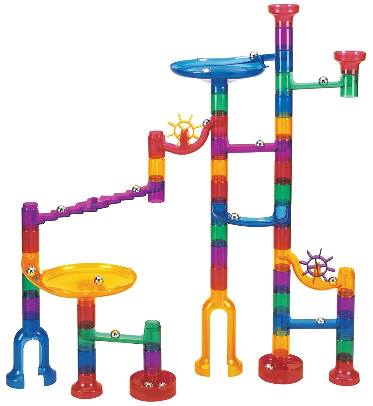 Edushape 805843 Marble Run, 48 Piece, Transparent, 11