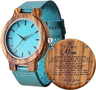 Reloj de Madera Grabado para Hija, Grabado to my Daughter Love Mom mamá a Hija Reloj graduación Regalo