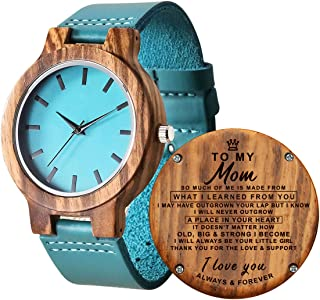 Personalized Wooden Watch for Daughter, Engraved ''to My Daughter Wood Watch, Anniversary Christmas Gifts for Daughter, Valentine's Gifts for Wife