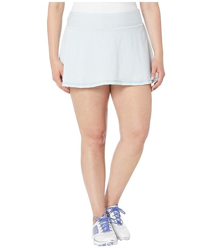 adidas Parley Skirt (White/Easy Blue) Women