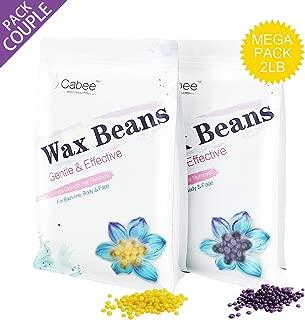 Hard Wax Beans Couple Set for Waxing - Painless Wax Beads Depilatory for Wax Warmer Kit - Stripless Brazilian Bikini for Women and Men (2lb, Lavender, Honey)