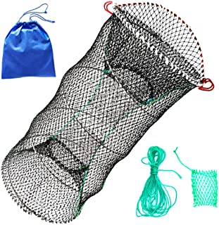 Drasry Crab Trap Bait Lobster Crawfish Shrimp Portable Folded Cast Net Collapsible Fishing Traps Nets Fishing Accessories ...