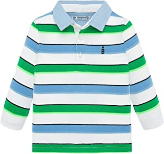 1134 Mayoral Navy S//s Stripes Polo for Baby-Boys