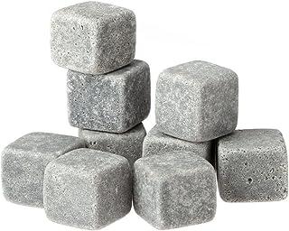 Anself 9er Set Whiskey-Steine aus natürlichem Speckstein