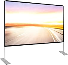 Projector Screen with Stand 100 inch Portable Projection Screen 16:9 4K HD Rear Front Projections Movies Screen for Indoor...