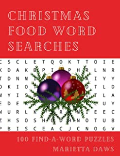 Christmas Food Word Searches: 100 Large Print Find-A-Word Puzzles (Holidays and Seasons)