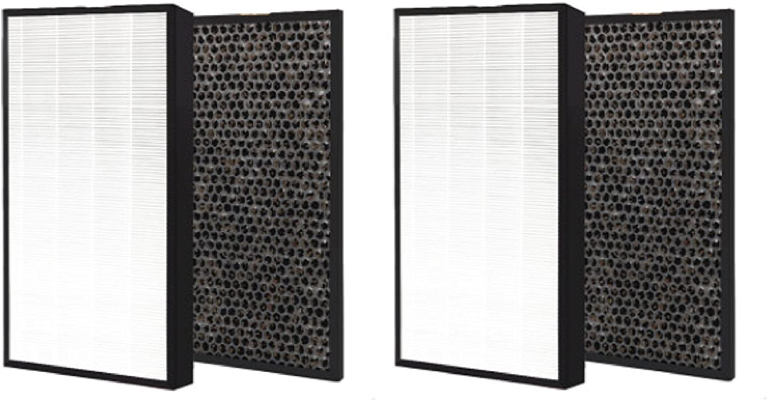 Nispira HEPA Air Filter Plus Carbon Pre Filter Replacement Compatible with Levoit Air Purifier LV-PUR131, 2 Sets