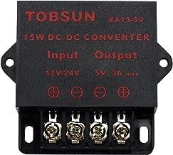 BINZET DC Converter Step Down Regulator 5V Regulated Power Supplies Transformer Converter (5V 3A 15W)