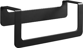Aluminio, con 2 Ganchos Color Negro Toallero de Pared 3 Brazos Aiboduo
