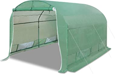 Strong Camel Portable Greenhouse Large Walk in Green Garden Hot House Outdoor Plant Tunnel Tent (10' X7'X6')