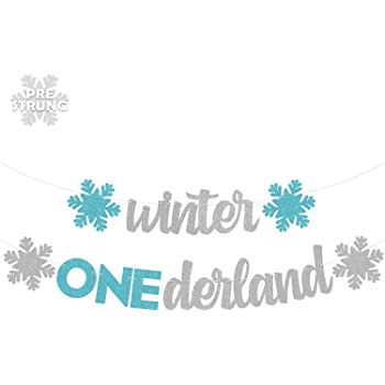 MALLMALL6 Winter 1st Birthday Photos Banner Newborn 12 Month Monthly Milestone Photo Banner Frozen Snowflakes Birthday Decoration Party Supplies Christmas Baby Shower Party Favors for 1 Year Old Baby