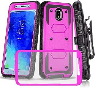 CaseTank-Samsung Galaxy J3 2018 Case/J3 V 3rd Gen/J3 Orbit/J3 Achieve/J3 Top/J3 Star/Express Prime 3/AMP Prime 3/Sol 3/Galaxy J3 Aura case W Built-in Screen Protector Kickstand Armor Holster, Purple1