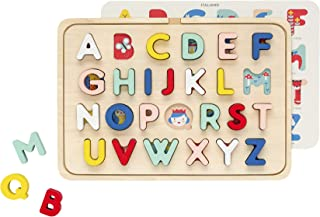 Petit Collage Multi Language Alphabet Wooden Tray Puzzle, Ages 3+ Years