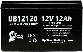 UB12120 Universal Sealed Lead Acid Battery (12V, 12Ah, F1 Terminal, AGM, SLA) Replacement - Compatible With APC SMART-UPS 1000, Razor MX500 Dirt Rocket, MX650 Dirt Rocket, APC BACK-UPS 650, RBC6, RBC4