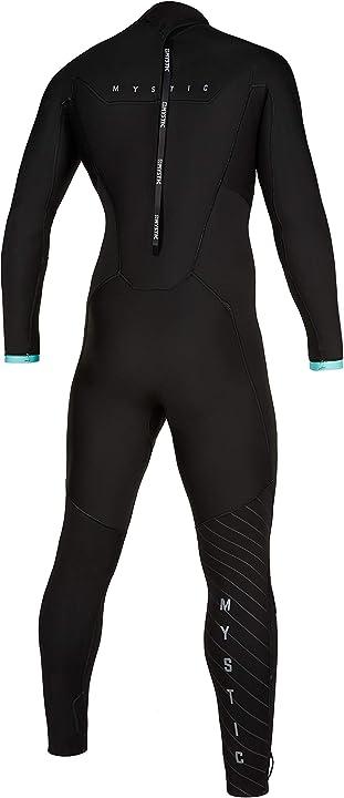 Muta uomo mystic marshall 5/3mm back-zip fullsuit wetsuit 2020 - black/mint 8715738649088