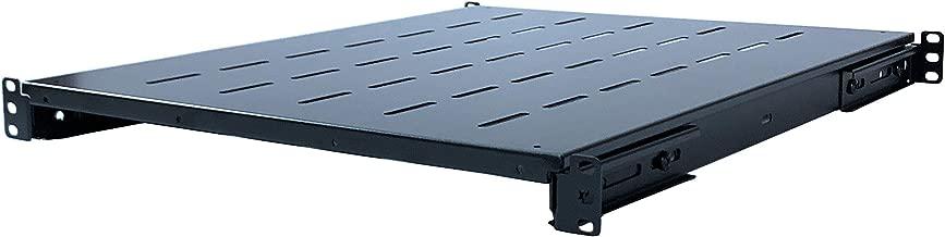 Rising Electronics Fixed Rack Server Shelf 1U 19 Inch Shelves 4 Post Rack Mount Adjustable Deep for Server Network Rack (21.5-28Inch Depth)
