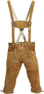 BAVARIA TRACHTEN Lederhosen Men - The Original from Germany - Authentic German Oktoberfest Outfit/Costume - Real Leather