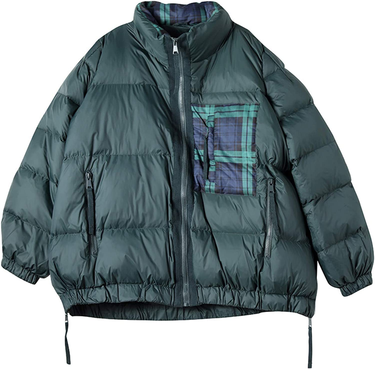 Women's Puffer Jacket , Stand Collar Women's Insulated Jacket with Pockets